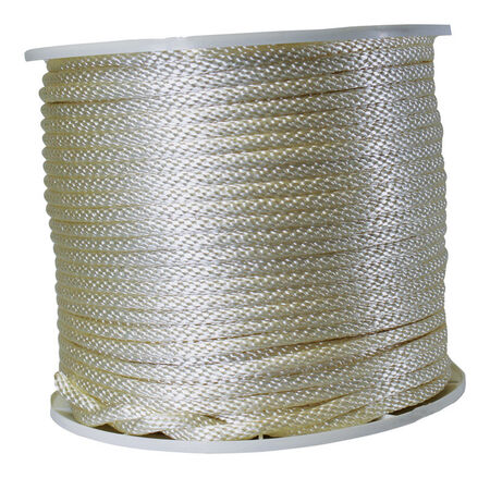 Wellington 3/8 in. Dia. x 500 ft. L Solid Braided Nylon Rope White