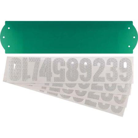 Hillman Gloss Green Die-Cast Zinc Rectangle Reflective 911 Address Kit