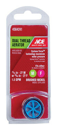 ACE Aerator Adapter 15/16in. -27M or 55/64 in. -27F Brushed Nickel