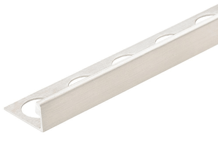 Silver 1/2 in. X 98.5 in. Aluminum L-Shaped Tile Edging Trim