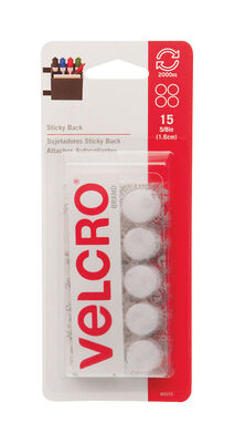 Velcro 7-7/16 in. L x 5/8 in. W Hook and Loop Fastener 15 pk