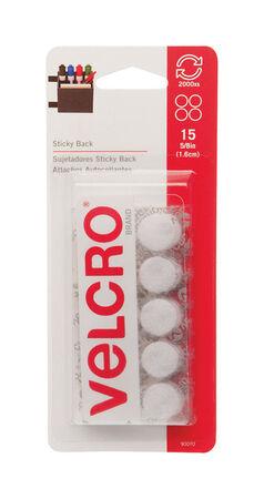 Velcro 7-7/16 in. L x 5/8 in. W Hook and Loop Fastener 15 pk