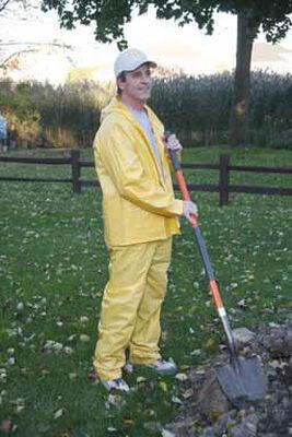 Boulder Creek Yellow Vinyl Rain Suit Large
