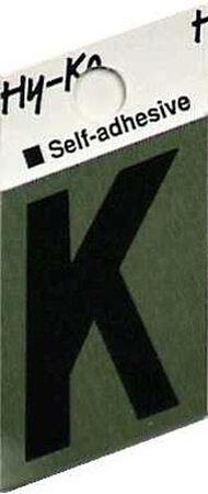 Hy-Ko Self-Adhesive Black 1-1/2 in. Aluminum Letter K