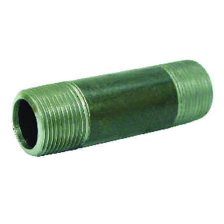 Anvil 2 in. Dia. x 7 in. in. L x 2 in. Dia. MPT To MPT Schedule 40 Galvanized Steel Pipe Nipple