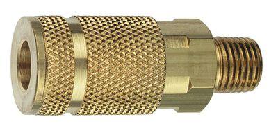 Tru-Flate Brass Quick Change Coupler 1/4 in. MNPT Male A