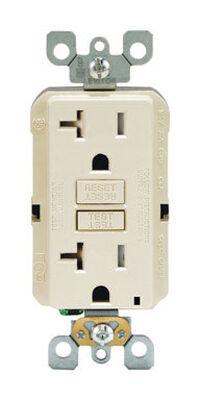 Leviton GFCI Receptacle 20 amps 5-20R 125 volts Light Almond