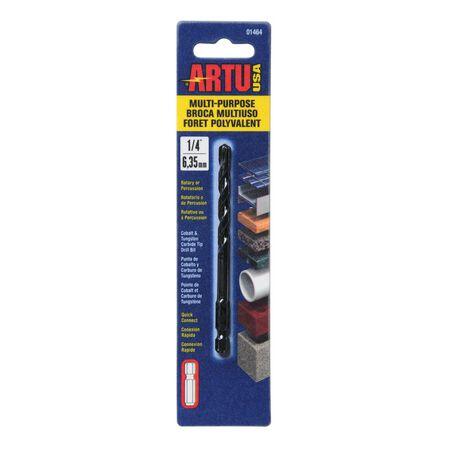 ARTU Multi-Purpose Carbide Tipped Hex 1/4 in. Dia. Quick Connect Drill Bit