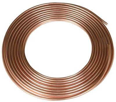 Watts Pre-Cut Copper Tubing Type L 1/4 in. Dia. x 25 ft. L
