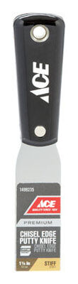Ace Chisel Edge 1-1/4 in. W Carbon Steel Putty Knife Stiff