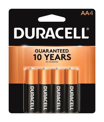 Duracell Coppertop AA Alkaline Batteries 1.5 volts 4 pk