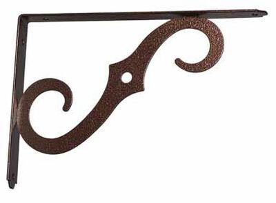 Ace Steel Bronze 12 Ga. Shelf Bracket 10 in. L x 1/2 in. W x 7 in. H