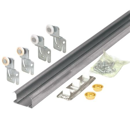 Prime-Line Galvanized Steel Top mount By-Pass Door Hardware Set 1 pk