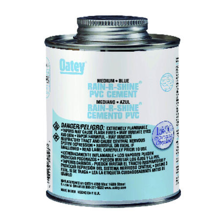 Oatey Rain-R-Shine Blue PVC Cement 4 oz.