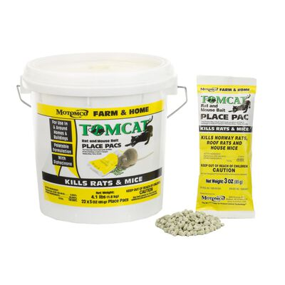 Motomco Tomcat Rodent Bait For Mice Rats 22 pk