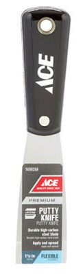 Ace 1-1/2 in. W High Carbon Steel Putty Knife Flexible