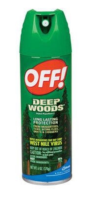 Deep Woods OFF! Insect Repellent DEET 25% Aerosol 6 oz.