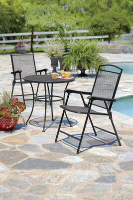 Living Accents Seville 1 Position Folding Chair Black