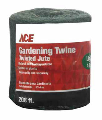 Ace 1/4 in. Dia. x 208 ft. L Twisted Jute Twine Green