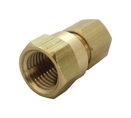 JMF 1/4 in. FPT Dia. x 3/8 in. FPT Dia. Brass Compression Connector