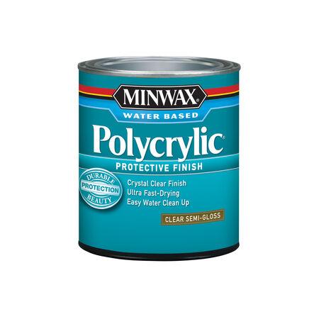 Minwax Semi-Gloss Clear Polycrylic 1 qt.