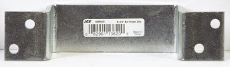 Ace Zinc-Plated Surface mount Closed Bar Holder Silver 1 pk