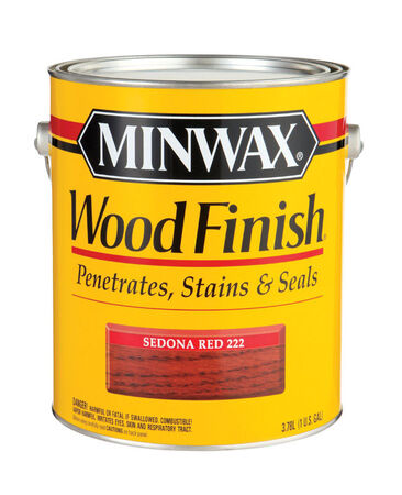 Minwax Wood Finish Transparent Oil-Based Wood Stain Sedona Red 1 gal.