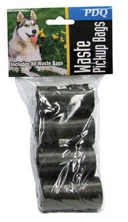 PDQ Plastic For Dog Dog Waste Pick-Up Bags Black