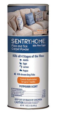 Sentry Home Flea and Tick Carpet Powder 16 oz. Potpourri