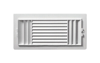 Deflect-O Jordan 12 in. H x 6 in. W Plastic White 3-Way Supply Wall/Ceiling Register