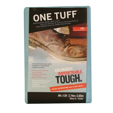One Tuff Heavy Weight Paper Drop Cloth 9 ft. W x 12 ft. L