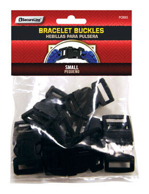 SecureLine Plastic Bracelet Buckles Black