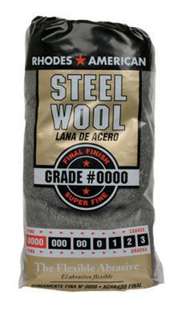 Rhodes American 0000 Grade Super Fine Steel Wool Pad 12 pk