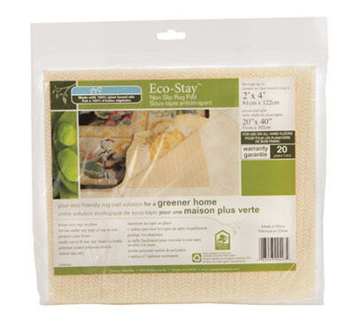 Eco Stay 2 ft. L x 4 ft. W Polyester Indoor Rug Pad