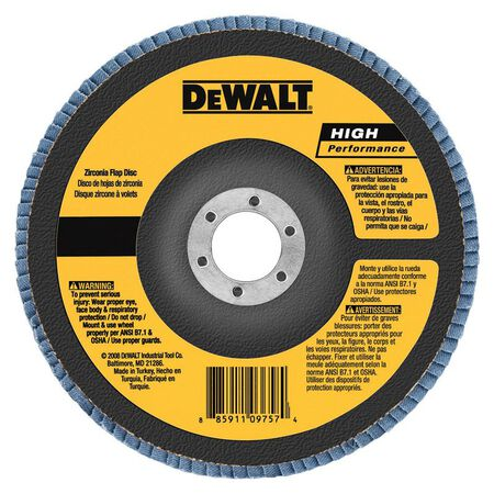 "4"" x 5/8"" 40 Grit Zirconia T29 Flap Disc"