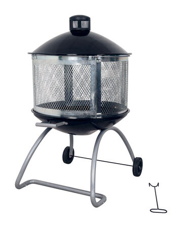 Living Accents Wood Fire Pit 28 in. W Porcelain/Steel