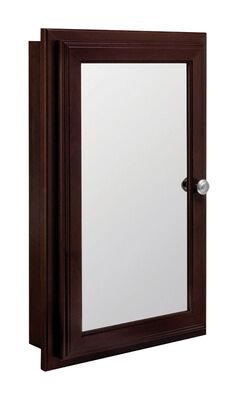 Continental Cabinets 25-3/4 in. H x 4-3/4 in. D x 16 in. W Swing Door Medicine Cabinet Java