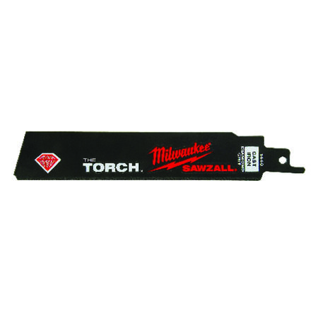 Milwaukee The Torch 6 in. L Diamond Grit Sawzall Blade 1 pk