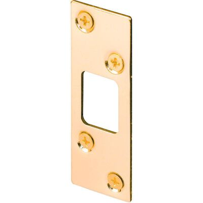 Prime-Line Security deadbolt strike 3.6 in. H x 1.3 in. L Brass Plated