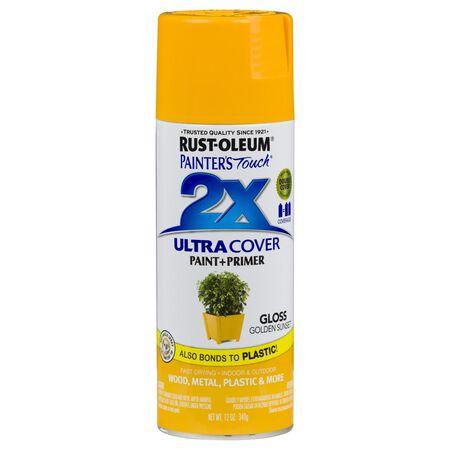 Rust-Oleum Painter's Touch 2X Golden Sunset Gloss Spray Paint Plus Primer 12 oz.