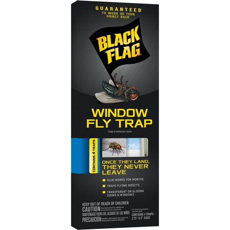 Black Flag Strips Window Fly Trap 4 pk