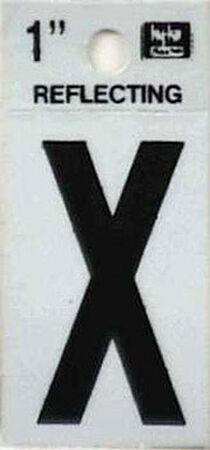 Hy-Ko Self-Adhesive Black Reflective Vinyl Letter X 1 in.