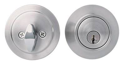 Home Plus Satin Chrome Single Cylinder Deadbolt 1-3/4 in. Key No. KW1