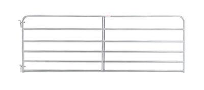 "10' 6-bar economy galvanized tube gate, 1 3/4"" 20 gauge Z-brace"