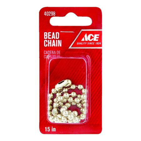 Ace 3/16 in. Dia. Beaded Chain