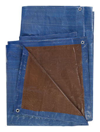 Ace Blue/Brown Medium Duty Tarp 8 ft. W x 10 ft. L