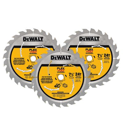 DeWalt Flexvolt 7-1/4 in. Dia. 24 teeth Carbide Tip Steel Circular Saw Blade For Fast Cutting
