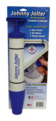 Johny Jolter Professional Power Toilet Plunger 4 in. Dia. x 18 in. L