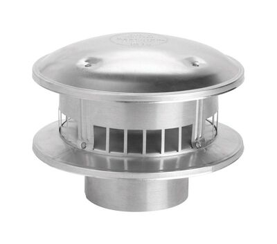 Selkirk 3 in. Aluminum Stove Pipe Metalbestos Top
