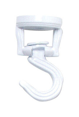 Panacea White Steel Swivel Ceiling Swag Hook 4-1/2 in. D x 3-9/16 in. H x 1-5/16 in. W